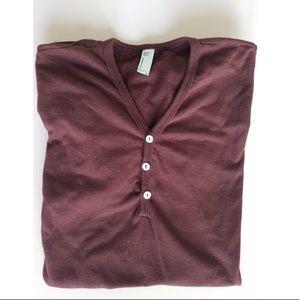 Burgandy American apparel mens top